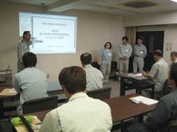 3.道路試験所 試験・技術課 課長 清野繁様より講師の方々のご紹介。